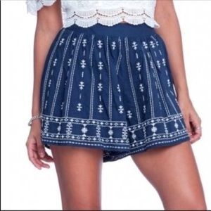 Lush Embroidered Shorts